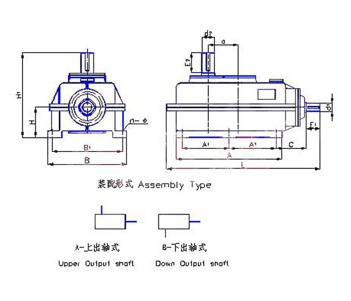 LF2型圓錐、圓柱齒輪減速機